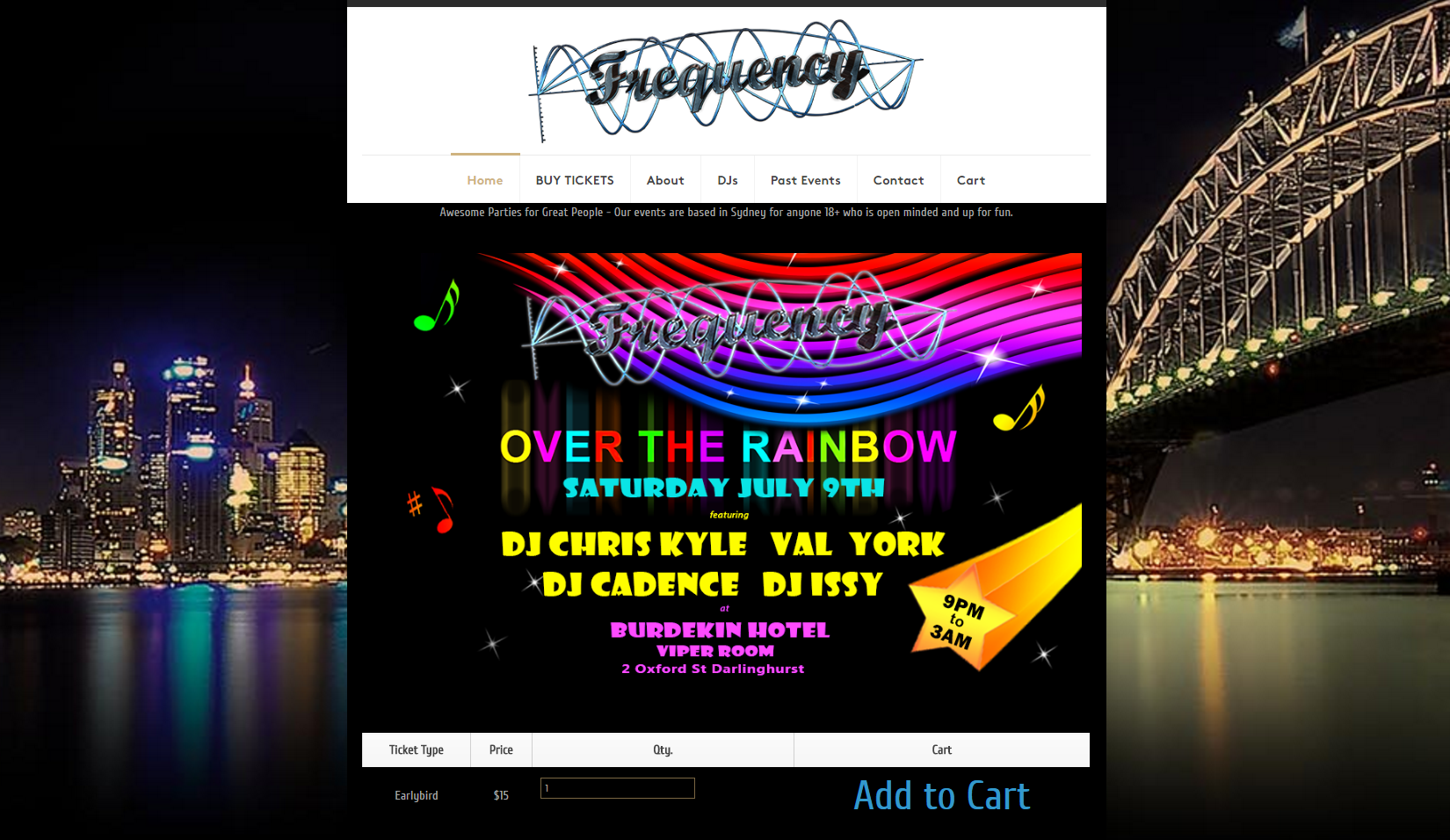 party website designs australia